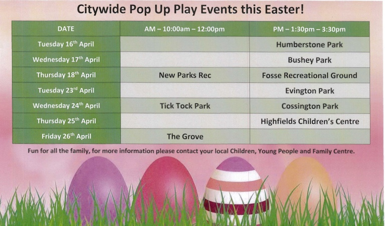 Citywide Pop Up Play Events